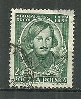 POLAND Oblitéré 647 Poète Russe Nicolas Gogol écrivain Littérature - 1944-.... Republic