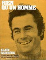 PARTITION ALAIN BARRIERE - RIEN QU'UN HOMME - 1970 - EXC ETAT COMME NEUF - Musique & Instruments