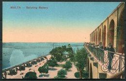 Circa WW1 Malta X 4 Postcards. Saluting Battery, Floriana Barracks, Imtarsa Barracks, St Paul's Bay - Malta