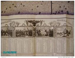 VXD1  INDICATEUR  GENERAL 1834  De 72 X 55 NAPOLEON  + Calendrier Taille Fine De HOUISTE ,imp: BINET Et DE GOETSCHY  . - Documenti Storici