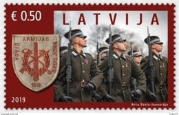 Latvia Lettland Lettonie 2019  National Armed Forces  - Militar Army 100 YEARS MNH - Letland