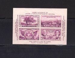Etats Unis. BF N°6. 1936.Exposition Philatélique De New York. Non Dentelé. Neuf Avec Gomme. (2003t) - Blocks & Kleinbögen
