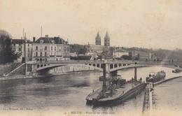 77 - Melun - Pont De Fer - ( Péniches ) - Melun