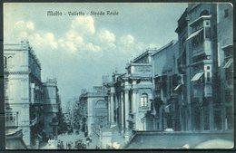 Circa 1920 Malta X 2 John Bonello Postcards. Valletta Strada Reale, Floriana Edward 7th Avenue - Malta