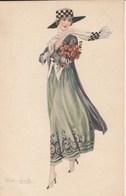 DAME AU BOUQUET Illustré Par Bompard  439M - Bompard, S.