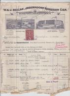 Jägerndorf - Faktura - Bruxelles - 1937 - 1900 – 1949