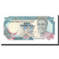 Billet, Zambie, 10 Kwacha, Undated (1989-91), KM:31b, NEUF - Zambia