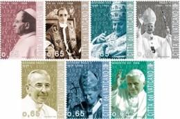 Vatican 1483/89 Papes Pie XI, Pie XII, Jean XXIII, Paul VI, Jean-Paul Ier, Jean-Paul II, Benoit XVI - Papes
