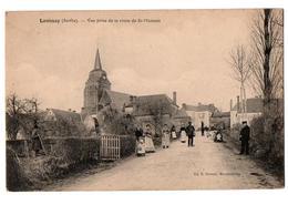 LAMNAY VUE PRISE DE LA ROUTE DE SAINT MAIXENT ANIMEE - Autres Communes