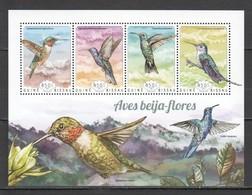 ST1093 2014 GUINE GUINEA-BISSAU FAUNA BIRDS HUMMINGBIRDS BEIJA-FLORES 1KB MNH - Hummingbirds