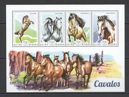 ST1094 2014 GUINE GUINEA-BISSAU FAUNA ANIMALS HORSES CAVALOS 1KB MNH - Cavalli