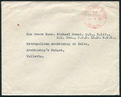1960 Malta General Post Office Paid Cover - Michael Gonzi, Archbishop Of Malta - Malta