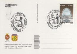 Italia 2014 Camaiore (LU) 70° Anniversario Liberazione Forca Expedicionaria Brasileira Annullo Cartolina Dedicata - Geschichte
