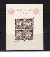Pologne. BF N°2 BF N°3. 1937. Visite Roi Carol De Roumanie. Neufs Sans Charniere. (2006t) - Blocs & Feuillets