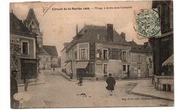 CIRCUIT DE LA SARTHE VIRAGE DANS CONNERRE EPICERIE COMMERCES ANIMEE - France