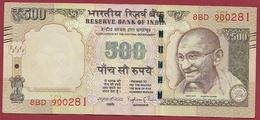 Inde 500 Rupees 2015 Dans L 'état (10) - India
