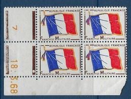 """FR Coins Datés Franchise YT 13 """" Drapeau """" Neuf** Du 18.3.68 - Coins Datés"""