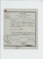 Commune Du Roux  - Hainaut  Mandat De Payement 50 Florins  - Cachet Bestuur Van Het Roux - 1820 - Oude Documenten