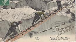 74 LES BOSSONS ALPINISTES JONCTION DU GLACIER DES BOSSONS VALLEE DE CHAMONIX MONT BLANC EDITEUR FRANCO SUISSE BF 1787 - Chamonix-Mont-Blanc