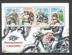 ST1125 2014 GUINE GUINEA-BISSAU TRANSPORT MOTORCYCLES FAMOUS PEOPLE 1KB MNH - Moto