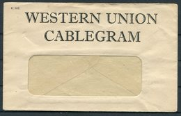 1920s Malta Western Union Cablegram Envelope - Alte Papiere