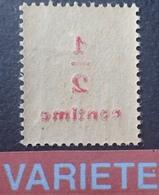 R1692/813 - 1919 - TYPE BLANC - N°157 NEUF** - VARIETE ➤➤➤ Surcharge RECTO-VERSO - Variétés Et Curiosités
