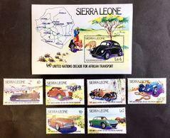 # Sierra Leone 1984**Mi.752-58 Cars , MNH [21;36] - Autos