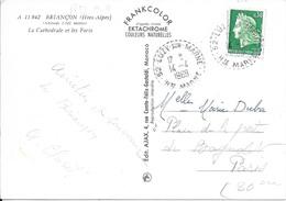 HAUTE MARNE 52    -   LUZY SUR MARNE     -  RECETTE DISTRIBUTION TIRELETS  B9   -  1969  - BELLE FRAPPE - Postmark Collection (Covers)