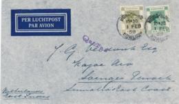 Hong Kong - 1939 - 30 & 5 Cents King George Op LP-cover Per Qantas Naar Soengei Penoeh / Nederlands Indië - Hong Kong (...-1997)