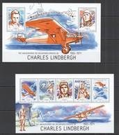 ST1171 2014 GUINE GUINEA-BISSAU TRANSPORT AVIATION 40TH ANNIVERSARY LINDBERGH KB+BL MNH - Airplanes