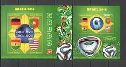 ST2926 2014 GUINE GUINEA-BISSAU SPORT FOOTBALL WORLD CUP BRAZIL GROUP G KB+BL MNH - 2014 – Brasilien