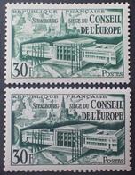 R1692/817 - 1952 - CONSEIL DE L'EUROPE (STRASBOURG) N°923 NEUFS** ➤ NUANCES DIFFERENTES - Variétés: 1950-59 Neufs