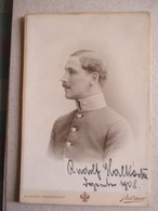 CDV Format CABINET  AUTRICHE - Beau Portrait Militaire - Officier - Autographe 1908 - Photo Pietzner, Vienne - TBE - Guerre, Militaire