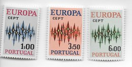 TIMBRES - STAMPS - FRANCOBOLLI - SELLOS - PORTUGAL - 1972 - EUROPE CEPT - SÉRIE DE TIMBRES NEUFS - MNH - Europa-CEPT