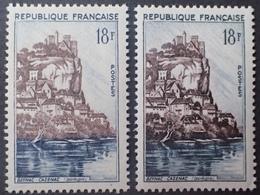 R1692/819 - 1946 - BEYNAC-CAZENAC - N°1127 NEUFS** ➤ NUANCES DIFFERENTES - Variétés Et Curiosités
