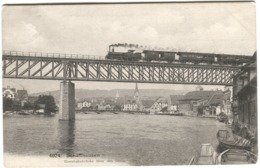 Eisenbahn ZUG Auf Brücke Schaffhausen 1907 - BE Bern