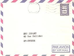 France 1965 - RARE Vignette Expérimentale IVA Munich, Oblitération CNET Essais - Enveloppe Par Avion/By Air Mail - Proefdrukken