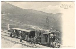 Un TRAIN Aux Rochers De Naye Avec Passagers Env. 1904 - VD Vaud