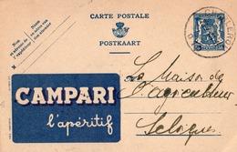Publibel - 584 - CAMPARI - L'APERITIF - CHARLEROI - 1944. - Entiers Postaux
