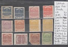 TIMBRE DE SAMOA AMERICAINE   */(*)/1877 EN LETAT  POSTE LOCALE Nr VOIR SUR PAPIER AVEC TIMBRES COTE  1420€ - Samoa Americano