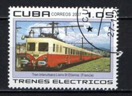 CUBA - 2007 - TRENO ELETTRICO LIONE-ST. ETIENNE - USATO - Used Stamps