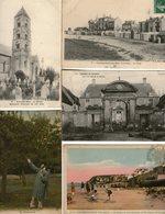 LOT 20 CPA Calvados -(14)-Brécy-Arromanches-Ver/Mer-Courseulles/Mer-St-Aubin-Caen-Pont-d'Ouilly- Falaise- Récolte Pommes - Andere Gemeenten
