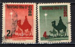 CUBA - 1956 - NATALE - CHRISTMAS - NAVIDAD - USATI - Cuba