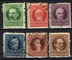 CUBA - 1917 - PERSONALITA' DI CUBA - USATI - Cuba