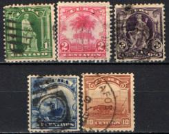 CUBA - 1899 - STATUA DI COLOMBO - PALME - NAVE DI LINEA OCEANICA - COLTIVAZIONE - USATI - Cuba