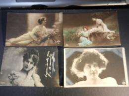 20016) AUGURALI DONNE MODA COSTUME LOTTO DI 4 - 3 VIAGGIATE E 1 NO 1904/1911 - Femmes