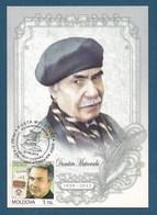 Moldova / Moldawien  2014 , Dumitru Matcovschi - Poet - Personality - Maximum Card - Posta Moldovei  07.06.2014 - Moldova