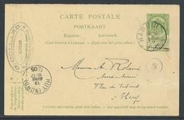 Postwaardestuk 5C Verstuurd Uit Hamoir 13 Avril 1905 - Entiers Postaux