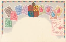 Orange River Colony Stamps On Postcard - Briefmarken (Abbildungen)
