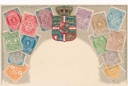 Danmark Stamps On Postcard - Sellos (representaciones)
